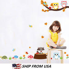 Nursery Owl Wall Decals Removable Wall Decals Tree Owl Bedroom Baby Nursery Stickers