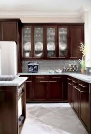 Kitchen Idea Pictures Furniture Small Kitchen Idea With Brown Maple Espresso Kitchen