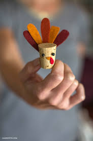 diy cork turkey kids craft lia griffith
