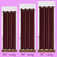 Best Blackout Curtains For Day Sleepers 63 Inch Burgundy Windows Curtains 1 Panel Drapes