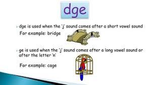 lesson words ending in u0027dge u0027 or u0027ge u0027 the dʒ sound