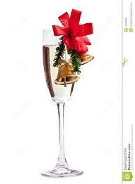 champagne glasses clipart champagne glass decorated with christmas bells stock photo image