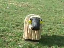 nodding sheep as a garden ornament