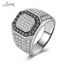 small stone rings images Colorfish genuine 925 sterling silver men 39 s ring micro pave small jpg