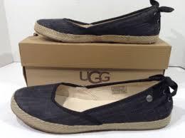 ugg womens indah shoes black ugg womens indah black back bow lace ballet flats slip on shoes
