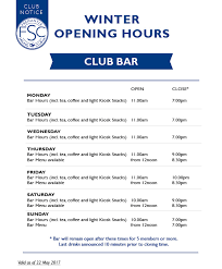 winter bar galley restaurant opening hours fremantle sailing club