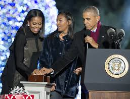 president and mrs obama attend national tree lighting