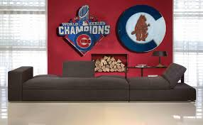 distressed wood home decor chicago cubs 1908 logo handmade distressed wood sign vintage art