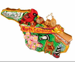 christopher radko tarheel treasures ornament carolina