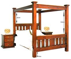 new queen canopy four poster bed frame 1399 king 1499 rent to
