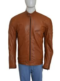 mens leather biker jacket brown graceful biker leather jacket instylejackets
