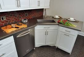 smallest kitchen sink cabinet is a corner kitchen sink right for you solving the dilemma