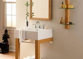 creative diy open storage for bathroom gray wall color and