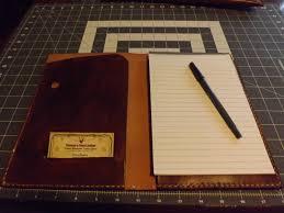 Portfolio Folder For Resume Small Leather Portfolio Notebook Holder Antiqued Handmade