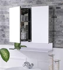 buy leonardo stainless steel bathroom mirror cabinet by jj