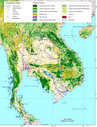 Thailand Map In World Map by Forest Cover Map Of Thailand
