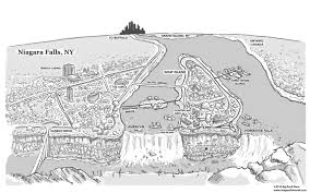Niagra Falls Map Niagara Map Illustration U2013 Niagara The Novel