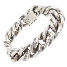 man silver link bracelet images Hermes paris solid heavy silver link bracelet baubles 1 jpg