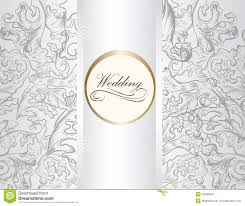 Invitation Card With Photo Wedding Invitation Card With Ornament In White Color Royalty Free