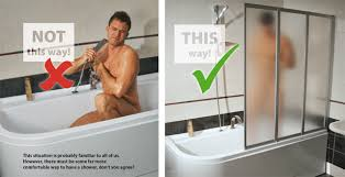 showering in a bathtub ravak a s