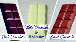 5 minutes dark sweet white chocolates homemade chocolate recipe