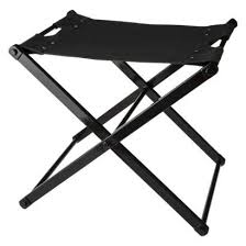 cow hide folding brown sling stool