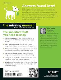 css3 the missing manual missing manuals amazon co uk david