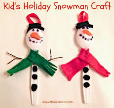 kid s snowman craft snowman craft using white plastic