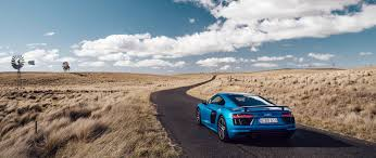 audi r8 wallpaper blue download wallpaper 2560x1080 audi r8 v10 side view blue road