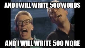 Writing Meme - must add this to my nanowrimo inspiration folder it s a