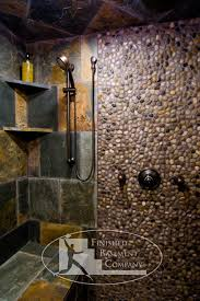 basement stone shower eclectic bathroom minneapolis by