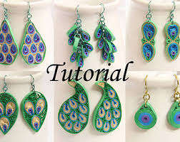 eco earrings eco friendly paper earrings jewelry pdf tutorials by honeyshive