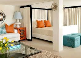 dividing a bedroom with curtains vibrant design curtains to divide