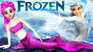 frozen mermaid elsa nursery rhymes frozen angel elsa finger