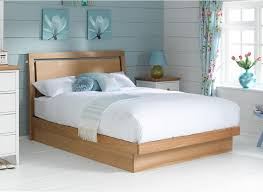 Oak Bed Frame Oak Finish Wooden Ottoman Bed Frame Light Oak Bed