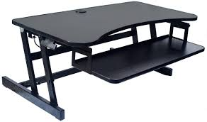 Best Sit Stand Desk by Amazon Com Rocelco Eadr Deluxe Ergonomic Height Adjustable Sit
