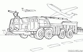 coloring page the first fire truck