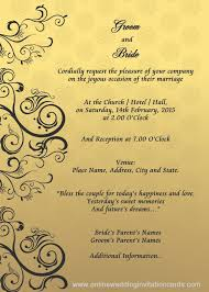 wedding invitation format best format of marriage invitation card 14 with additional wedding