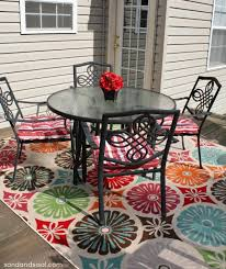 create an outdoor room sand and sisal
