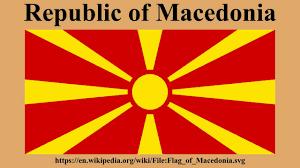Flag Of Macedonia Republic Of Macedonia Youtube