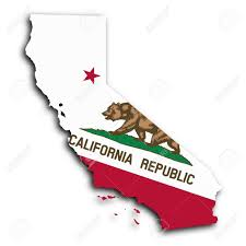 Califirnia Flag Map Of California Filled With The State Flag Stock Photo Picture