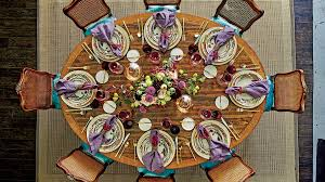 the best thanksgiving setting for your table shape southern living