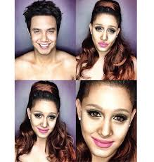this guy can turn himself into any celebrity by using makeup photos