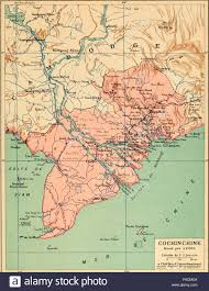 French Map Map Of Cochinchine French Colony Which Comprised The Bottom