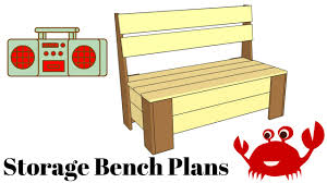 how to build a storage bench youtube
