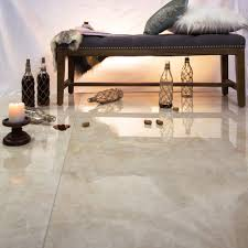 Floor Porcelain Tiles Marmi Tech Crema Marfil 24x24 Polished Porcelain Tile Tilebar