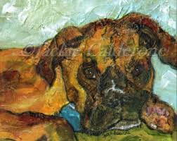 boxer dog wall art pet portrait boxer etsy