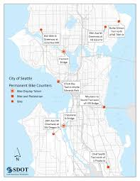 Map Ballard Seattle by Real Time Bike Counters Now Installed In 9 Locations Around The