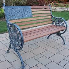 iron park benches oakland living proud american wood and cast iron park bench