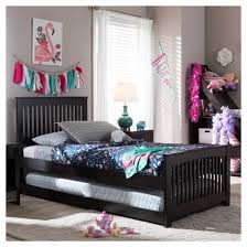 hevea solid wood platform bed with guest trundle bed twin dark